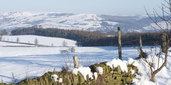 Baslow Edge in Winter