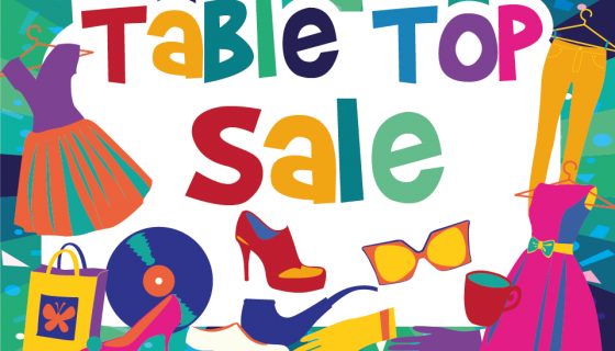 Table Top Sale: Saturday 2 June
