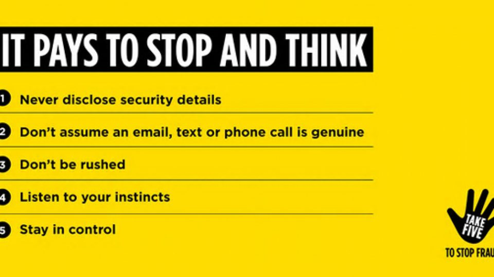 Take Five To Stop Fraud